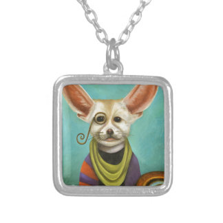Curious As A Fox Silver Plated Necklace