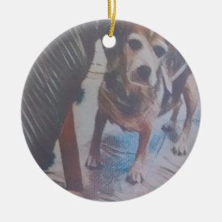 Curious Beagle Ceramic Ornament