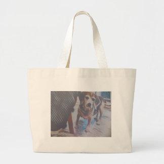 Curious Beagle Large Tote Bag