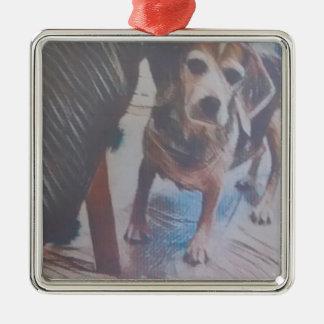 Curious Beagle Metal Ornament