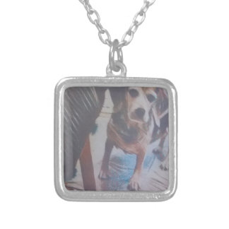 Curious Beagle Silver Plated Necklace