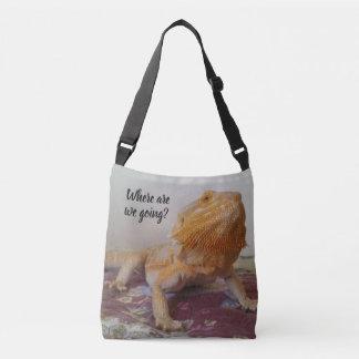 Curious Beardie Photo Design Funny Crossbody Bag