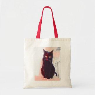 Curious Black Cat tote