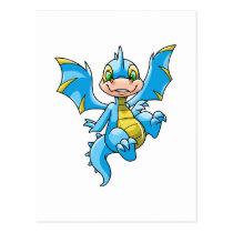 Curious blue Scorchio postcards