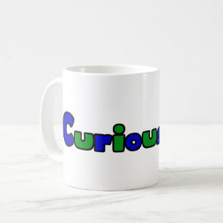 Curious Bob Comic Strip Logo 11oz Coffee Mug White