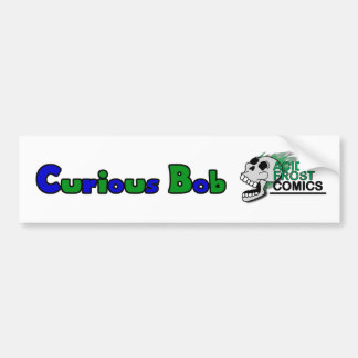 Curious Bob with Acid Frost Logo Bumper Sticker