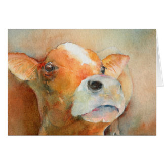 Curious Calf Card