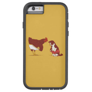 CURIOUS CAT AND CHOOK iPhone 6 Tough Case Tough Xtreme iPhone 6 Case