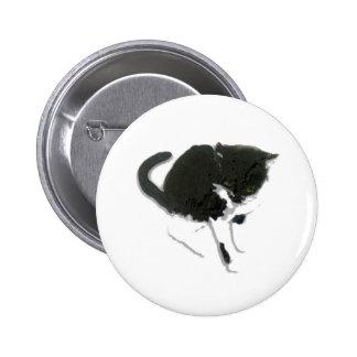 Curious Cat Art Pinback Button