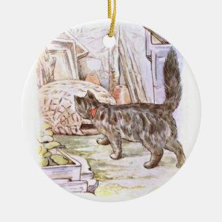 Curious Cat Artwork Ceramic Ornament
