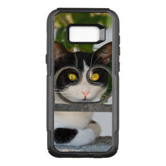 Curious Cat Eyes with Spectacles Frame Funny Photo OtterBox Commuter Samsung Galaxy S8+ Case