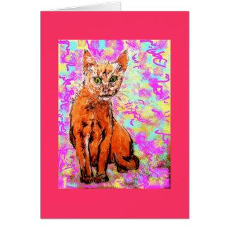 curious cat note card