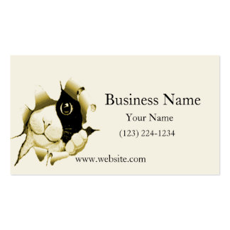 Curious Cat Peeking Out Business Cards