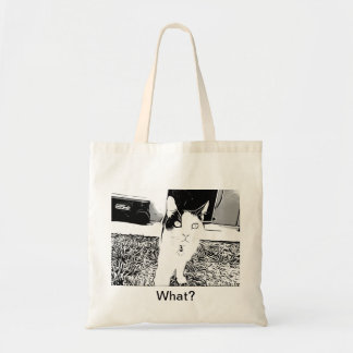 Curious Cat Tote Bags