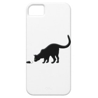 Curious Cat with Mouse iPhone 5 Cover
