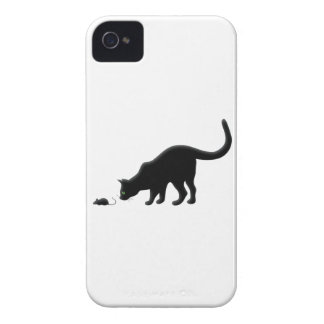 Curious Cat with Mouse iPhone 4 Case-Mate Case