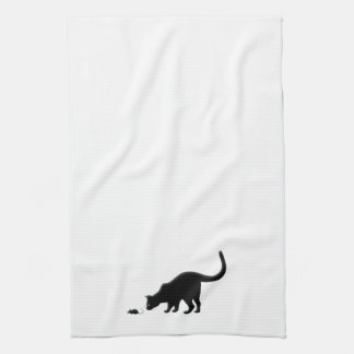 Curious Cat with Mouse Kitchen Towel