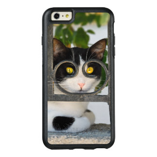 Curious Cat with Spectacles Frame Funny Protection OtterBox iPhone 6/6s Plus Case