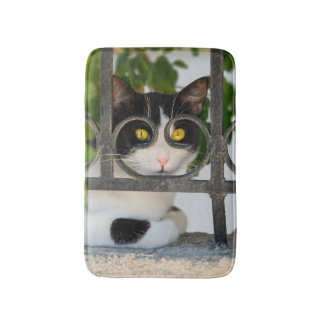 Curious Cat with Spectacles Frame Funny soft small Bath Mats