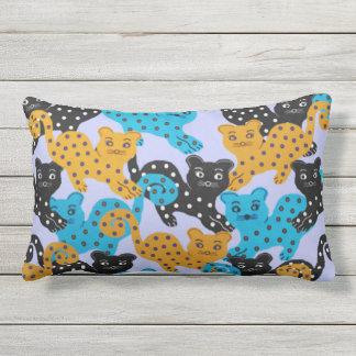 Curious Cats Lumbar Pillow