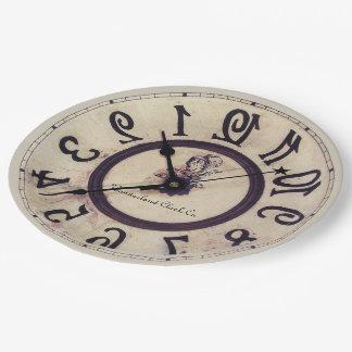 Curious Clock Paper Plate
