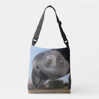 Curious Congo African Grey Parrot Tote Bag