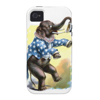 Curious Creatures - Elephant Vibe iPhone 4 Cover