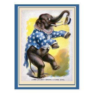 """""""Curious Creatures"""" Vintage Postcard"""