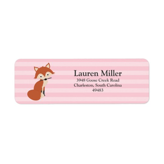 Curious Fox Return Address Label