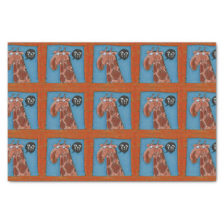 curious funny giraffe looking from window cartoon tissue paper