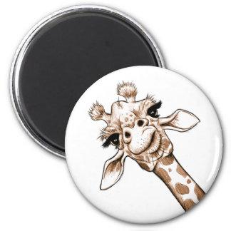 Curious Giraffe Art Magnet