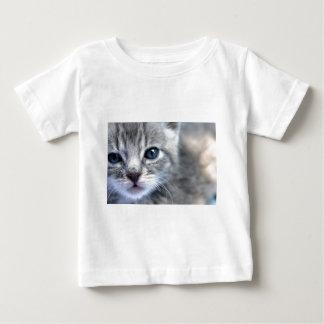 Curious Grey Kitten Baby T-Shirt
