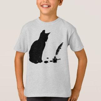 Curious Kitten Kids Shirt - Cats & Books