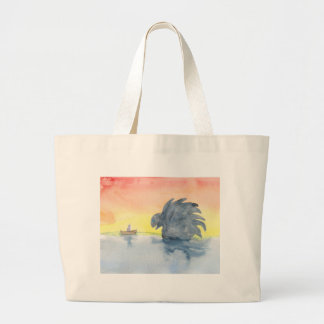 Curious Meeting Large Tote Bag