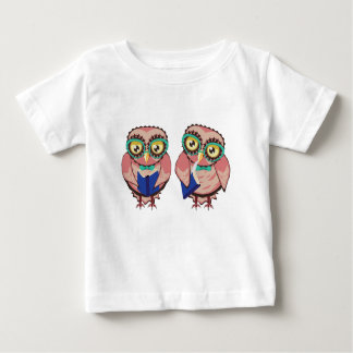Curious Owl in Teal Glasses2 Baby T-Shirt