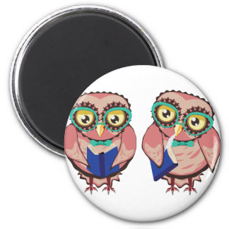 Curious Owl in Teal Glasses2 Magnet