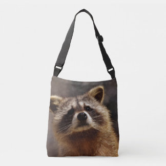 Curious Raccoon Crossbody Bag
