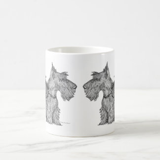 Curious Scottish Terriers Pen & Ink Sketch Coffee Mug