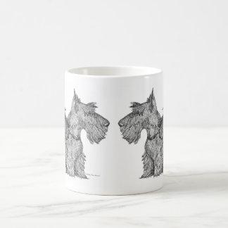 Curious Scottish Terriers Pen & Ink Sketch Coffee Mug