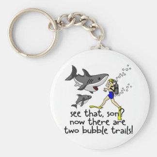 Curious Sharks Key Ring