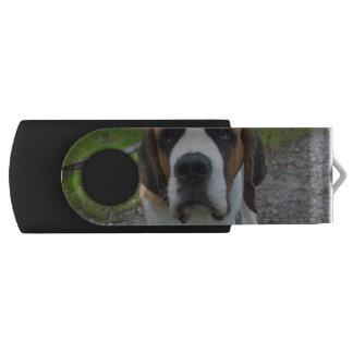 Curious St Bernard Swivel USB 2.0 Flash Drive