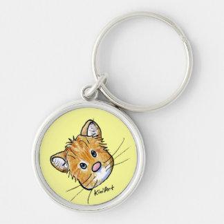 Curious Tabby Cat Keychain