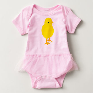Curious Yellow Chick Baby Bodysuit