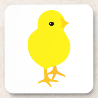 Curious Yellow Chick Coaster