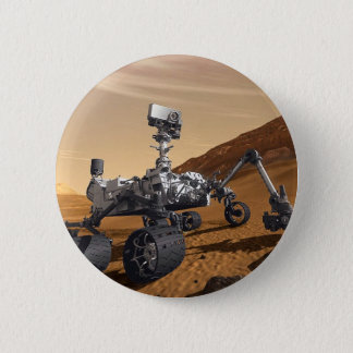 Curiousity Mars Rover, Planetary Space Mission, 6 Cm Round Badge