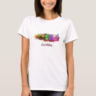Curitiba skyline in watercolor T-Shirt