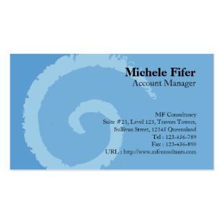 Curl Blue Business Card