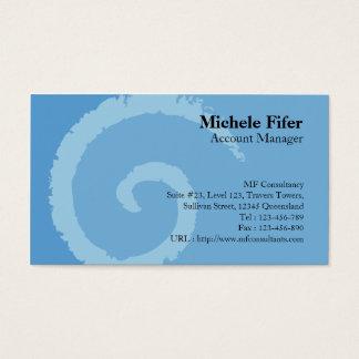 Curl Blue Business Card