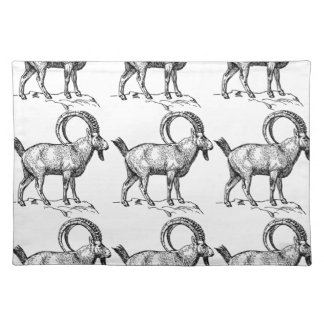 curl horn ibex placemat