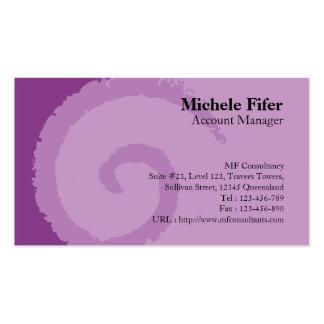 Curl Purple Business Card
